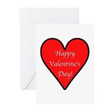 Valentine's Day Heart Greeting Cards (Pk of 10)