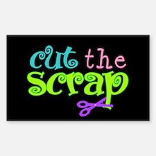 Cut the Scrap Rectangle Decal