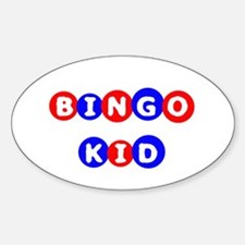 Bingo Kid Oval Decal