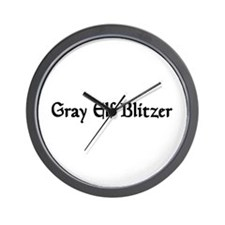 Gray Elf Blitzer Wall Clock