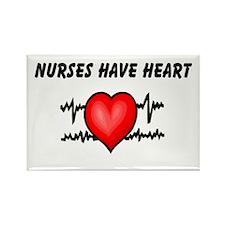 Nurses Have Heart Rectangle Magnet (10 pack)