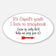 Cupid's Fault Oval Decal