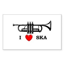 """""""I heart Ska"""" sticker"""