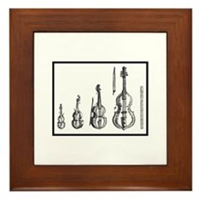 Cute Viol Framed Tile