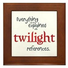 Twilight References Framed Tile