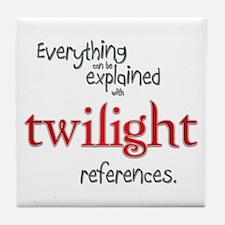 Twilight References Tile Coaster