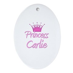 Princess Carlie Oval Ornament