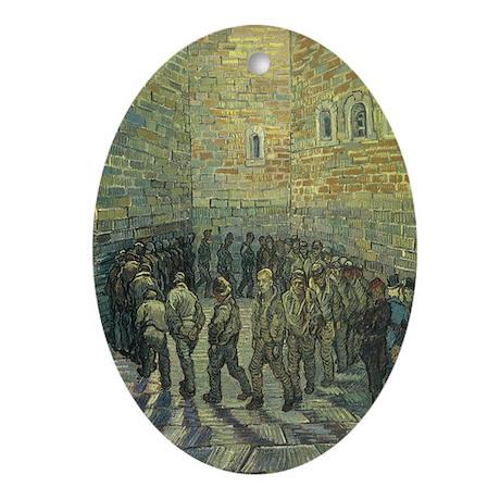 Van Gogh Prisoners Exercising Ornament (Oval)