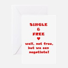Single and Free Greeting Card