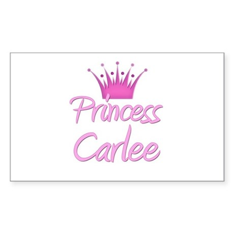 Princess Carlee Rectangle Sticker
