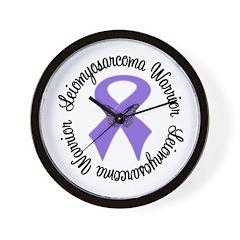 Leiomyosarcoma Warrior Wall Clock