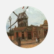 Van Gogh Le Moulin Ornament (Round)