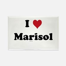 I love Marisol Rectangle Magnet