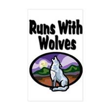Running with Wolves Rectangle Decal