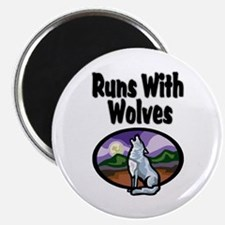 Running with Wolves Magnet
