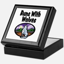Running with Wolves Keepsake Box