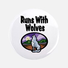 """Running with Wolves 3.5"""" Button"""