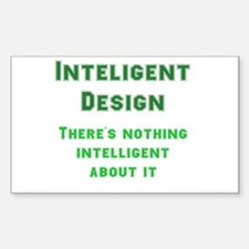 Intelligent Design? Rectangle Decal
