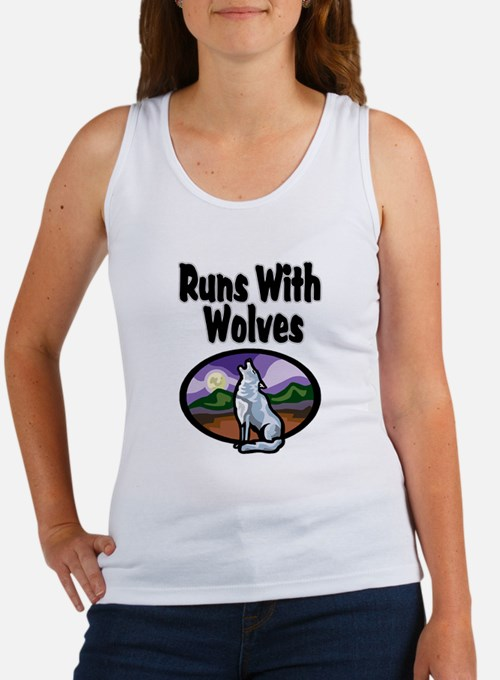 Running with Wolves Women's Tank Top