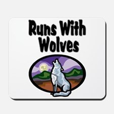 Running with Wolves Mousepad