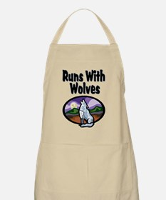 Running with Wolves BBQ Apron