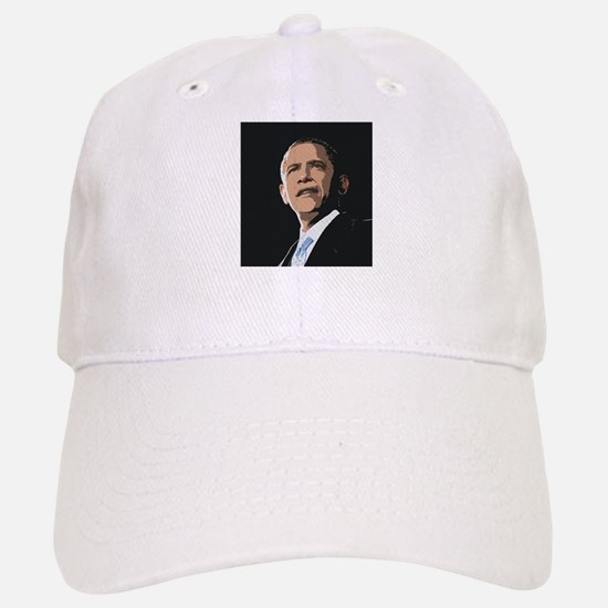 Obama Painting Baseball Baseball Cap