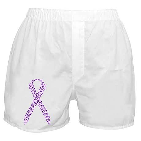 Purple Footprints Boxer Shorts
