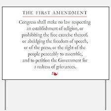 First Amendment Yard Sign