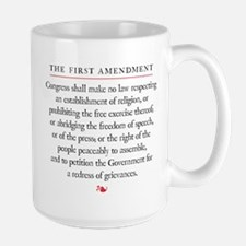 First Amendment Large Mug