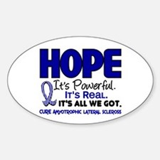 HOPE ALS 1 Oval Decal