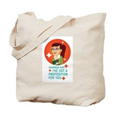 Cute Grammar girl Tote Bag