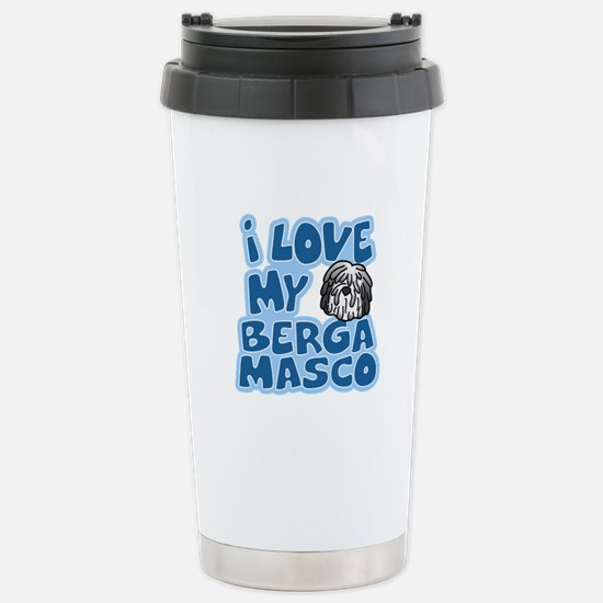 I Love my Bergamasco Stainless Steel Travel Mug