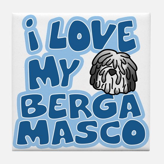 I Love my Bergamasco Tile Coaster