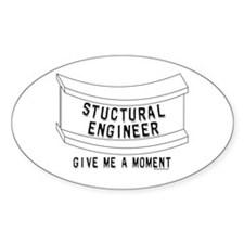 Stuctural Engineer Oval Decal