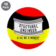 """Stuctural Engineer 3.5"""" Button (10 pack)"""