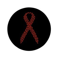 """Red Ribbon 3.5"""" Button (100 pack)"""