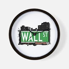 WALL STREET, MANHATTAN, NYC Wall Clock
