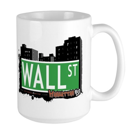 WALL STREET, MANHATTAN, NYC Large Mug