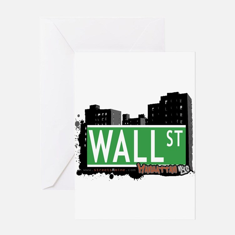 WALL STREET, MANHATTAN, NYC Greeting Card