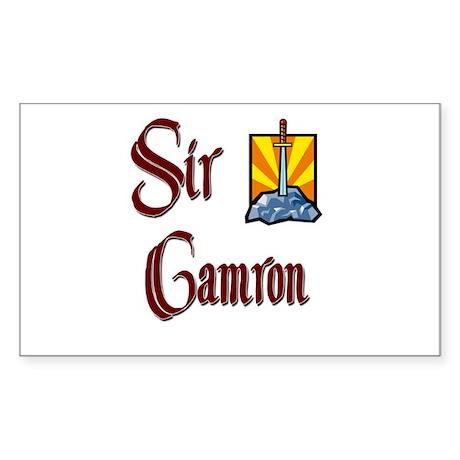 Sir Camron Rectangle Sticker