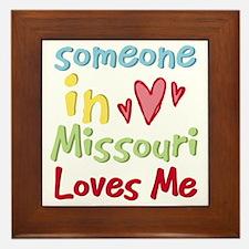Someone in Missouri Loves Me Framed Tile