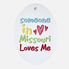 Someone in Missouri Loves Me Oval Ornament