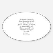 EXODUS 35:2 Oval Decal
