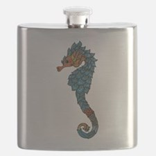 colorful Seahorse Flask