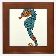 colorful Seahorse Framed Tile