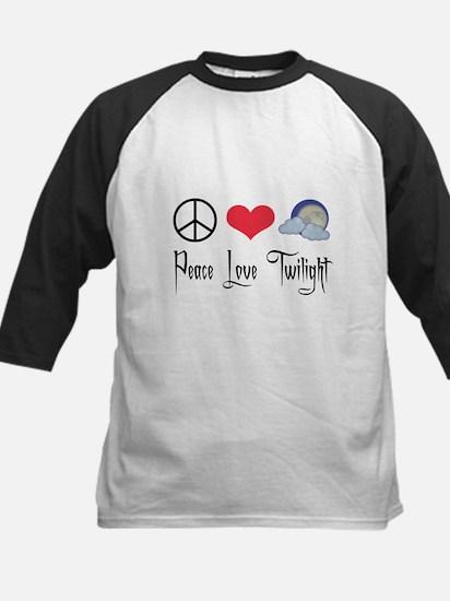 Peace Love Twilight Kids Baseball Jersey