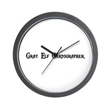 Gray Elf Cartographer Wall Clock