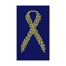 Yellow Footprints Rectangle Sticker 50 pk)