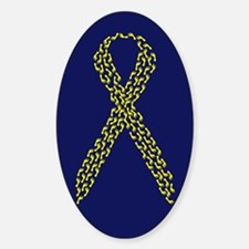 Yellow Footprints Oval Decal
