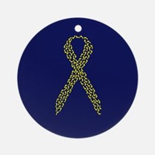 Yellow Footprints Ornament (Round)
